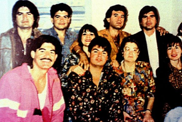 A portion of the Arrellano Felix crime family, in an undated photograph from the 1980s. Via El Universal.