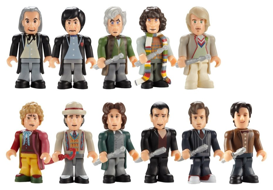 Doctor Who The Eleven Doctors Micro-Figure Set by Underground Toy