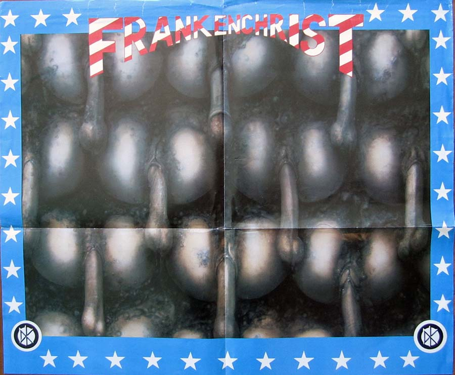 Giger's art for the Dead Kennedy's 'Frankenchrist,' for which lead singer Jello Biafra was sued for harming minors.