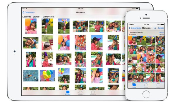 Apple's Photos app for iOS8.