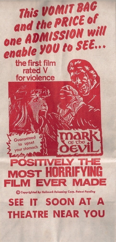 HMM mark of the devil barf bag