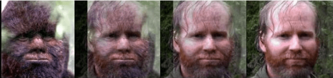 Comparison of still from footage of purported bigfoot to photo of Todd Standing.