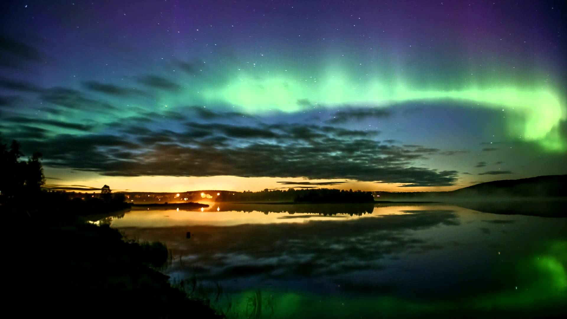 4k Fall Michigan Wallpaper Dazzling Video Of Northern Lights In Finland Fall 2015