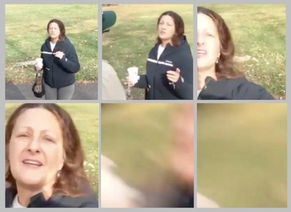 Denise Slader attacking an American man who happened to be Muslim. [Rasheed Albeshari]