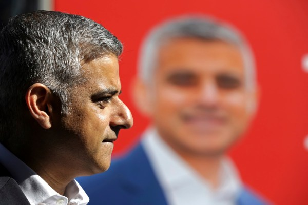 Sadiq Khan, Britain's Labour Party candidate for Mayor of London, speaks to the media at Canary Wharf in London, Britain May 4, 2016.  REUTERS