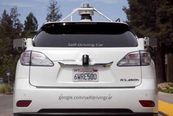 Lexus SUV Google prototype autonomous vehicle in Mountain View, 2015.  REUTERS