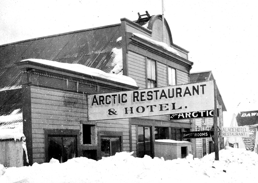 """Macleans reports: """"Donald Trump's grandfather opened this hotel during the Yukon gold rush, boasting 'every delicacy in the market' and 'private rooms for ladies'"""""""