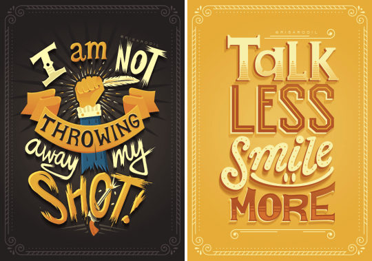 Broadway Quotes Wallpaper Hand Lettered Posters Turn Hamilton Lyrics Into Works Of