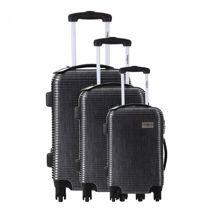 3 Wheel Prams Argos Set Of Three Black Argos Spinner Suitcases 50 60 70cm