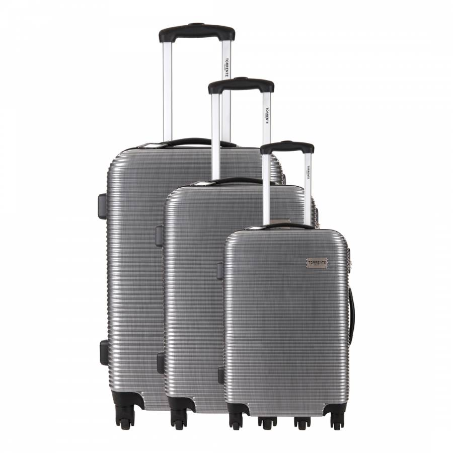 3 Wheel Prams Argos Set Of 3 Silver Argos Spinner Suitcases 50 60 70cm Brandalley