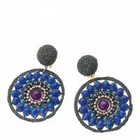 Blue Rhinestone Earrings - BrandAlley