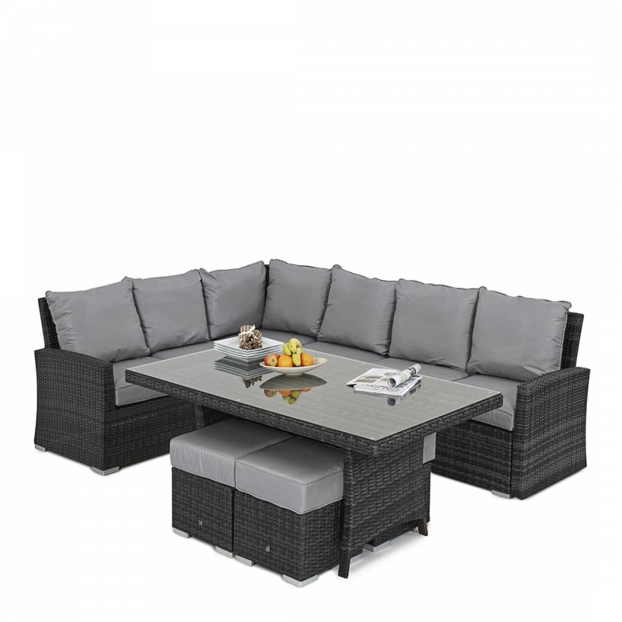 Rattan Corner Sofa Ireland Kingston Corner Sofa Dining Set Grey Brandalley