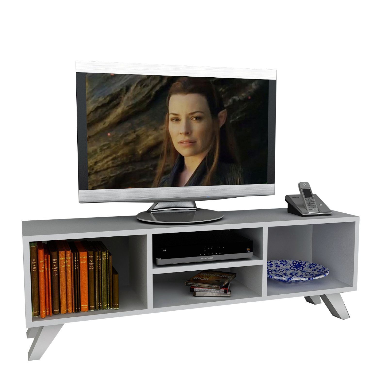 Wooden Art Meuble Wooden Art Meuble Tv Hifi Blanc Brandalley
