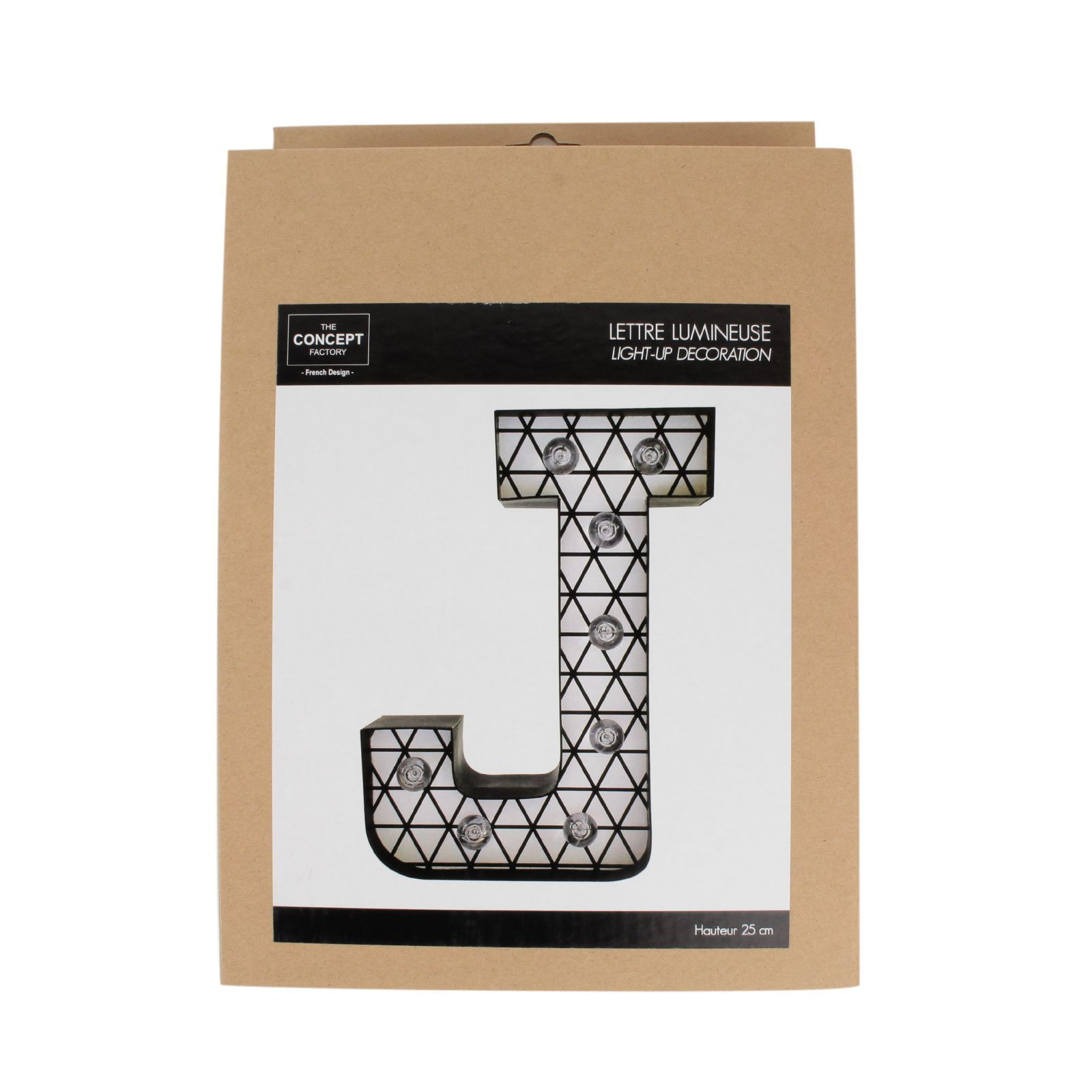 Lettre Lumineuse The Home Deco Factory Lettre Lumineuse Noir Brandalley