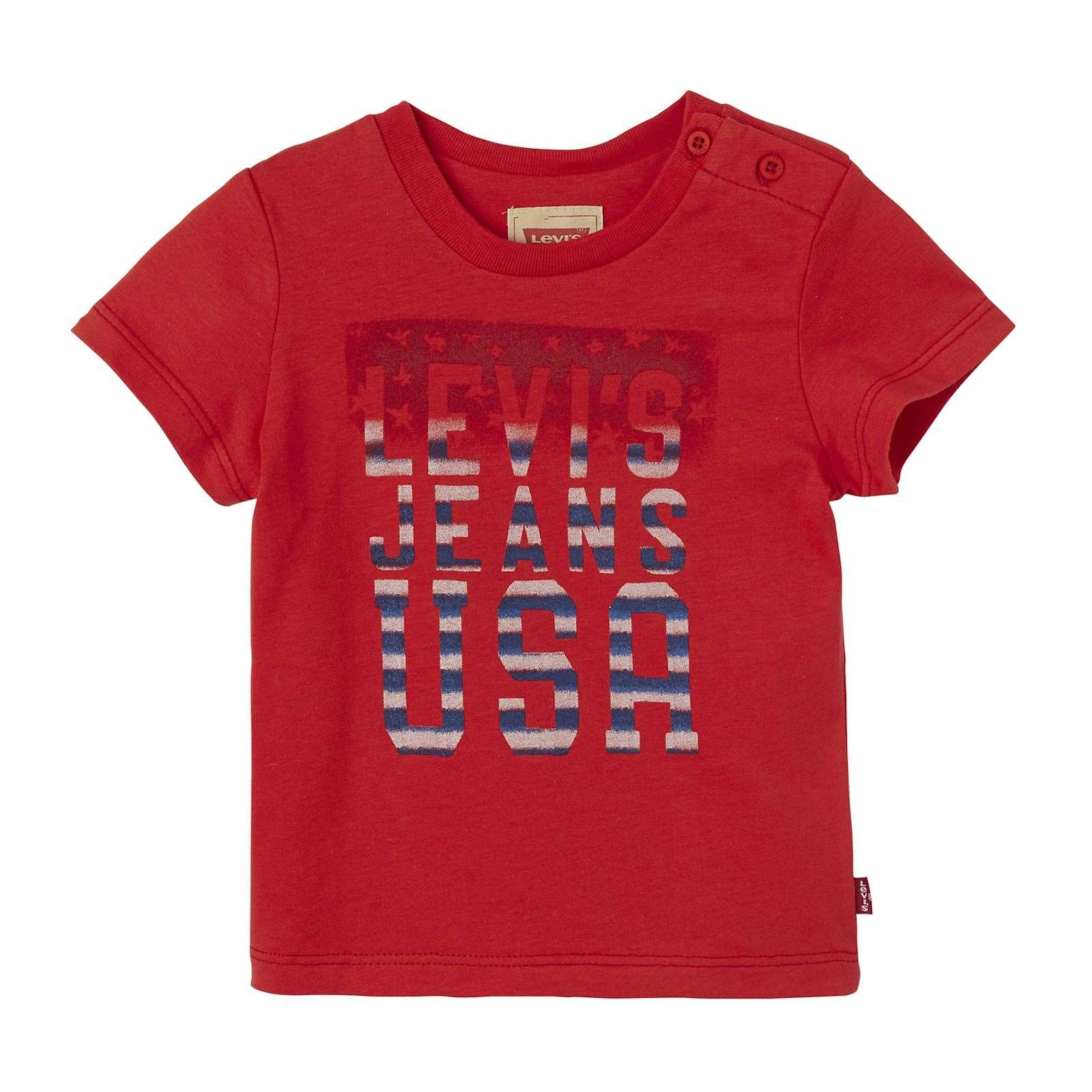 Küchen T Shirts Levi 39s Kids Usa Kurzärmeliges T Shirt Rot Brandalley