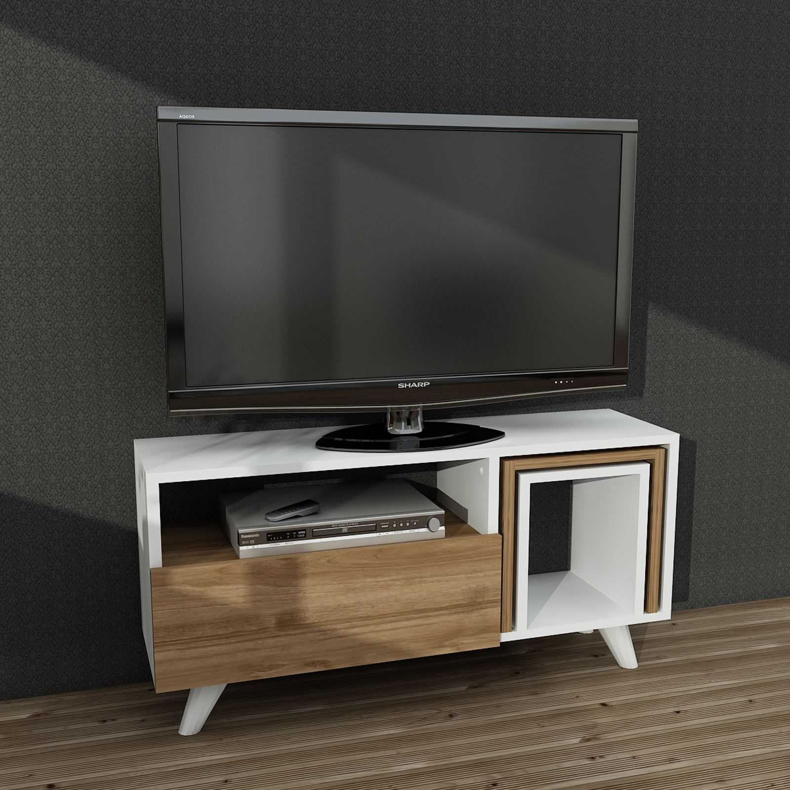 Wooden Art Meuble Wooden Art Meuble Tv Blanc Brandalley