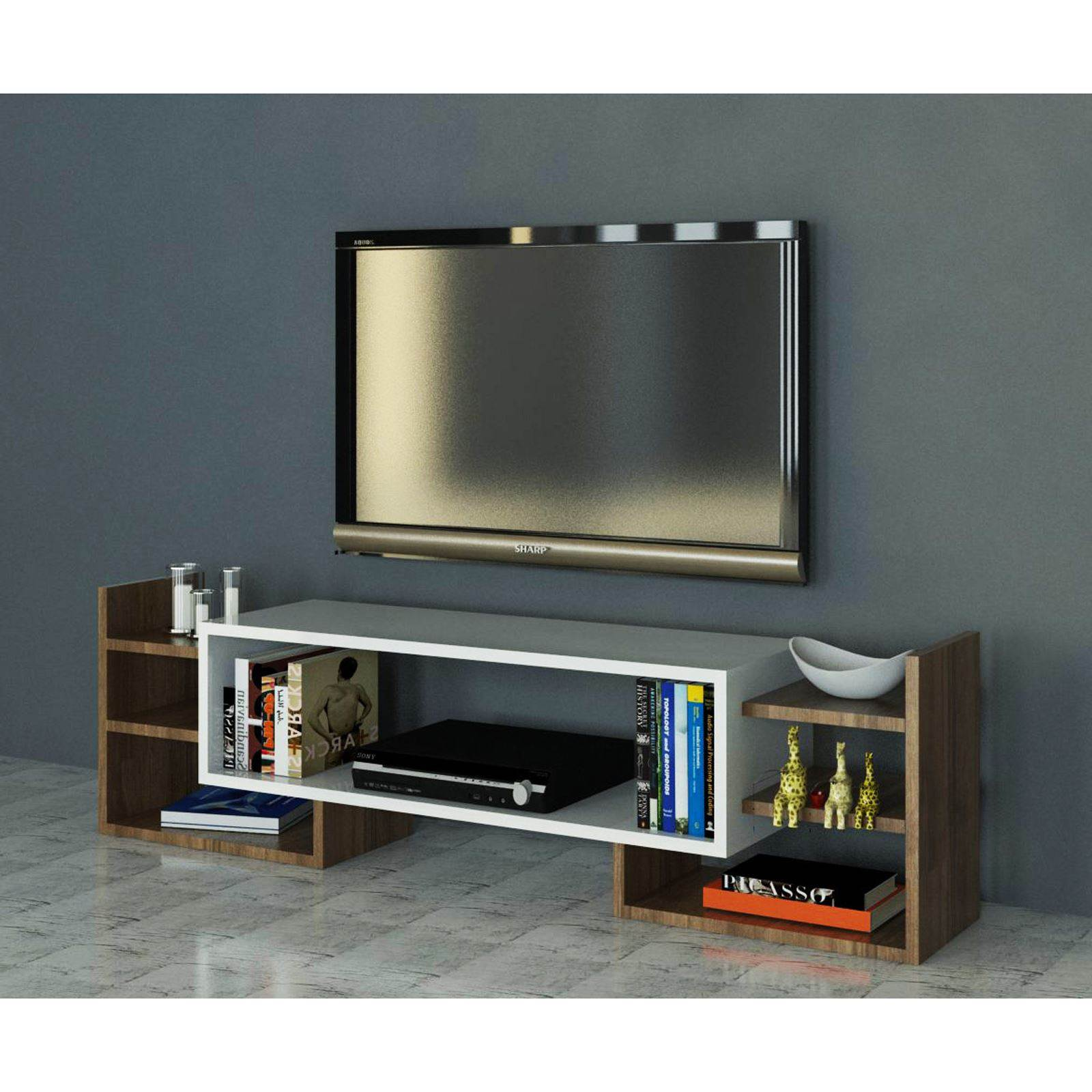 Wooden Art Meuble Wooden Art Meuble Tv Bicolore Brandalley