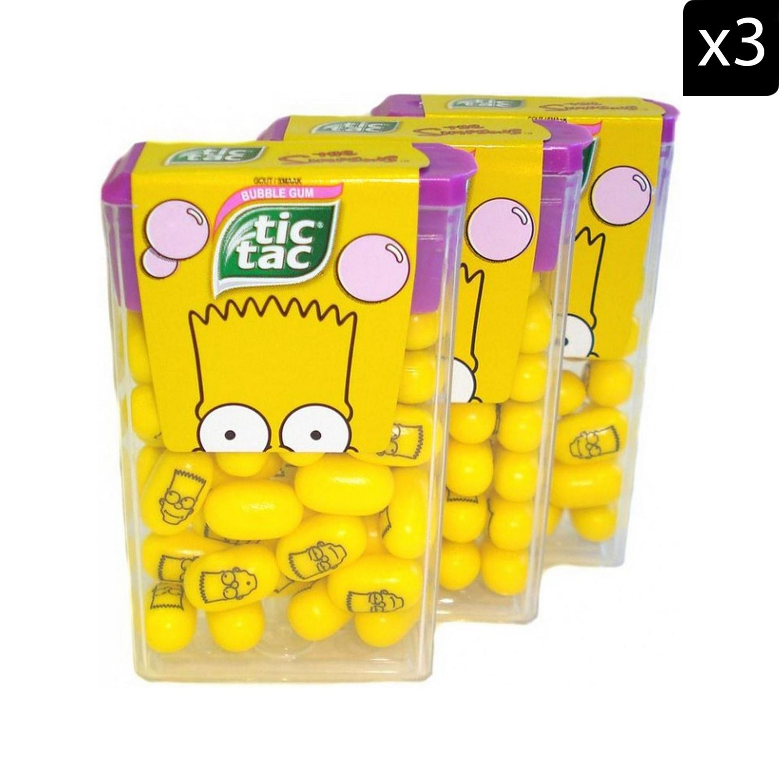 Simpsons Bettwäsche Tic Tac Simpsons Tic Tacs 3 Packungen Brandalley