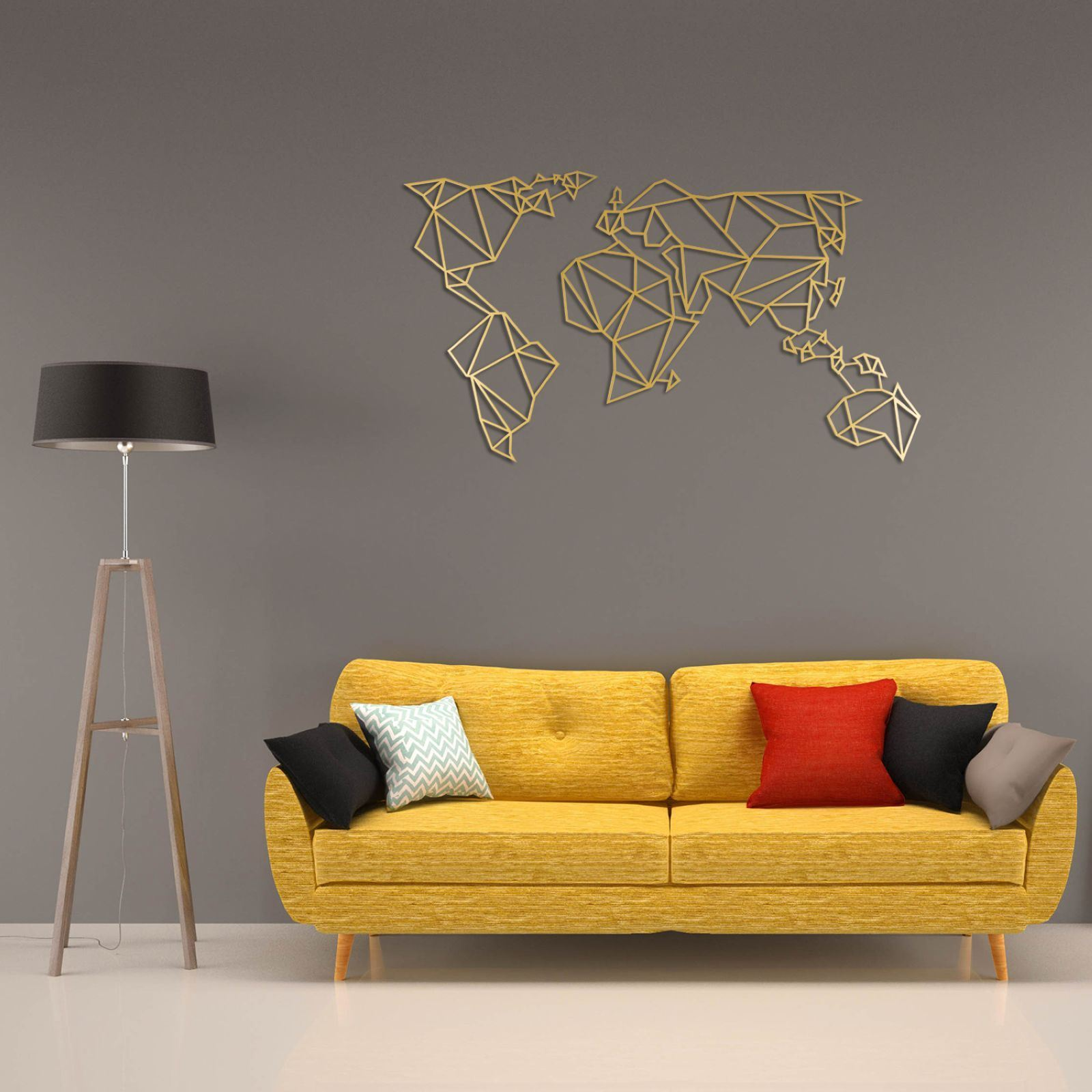 Wall Decoration Murale Wall Art World - Décoration Murale - Or | Brandalley