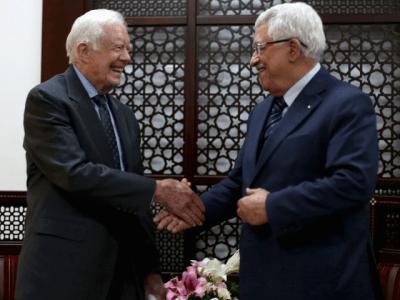 Carter and Abbas (Reuters)