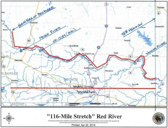 Red River Land Dispute Map