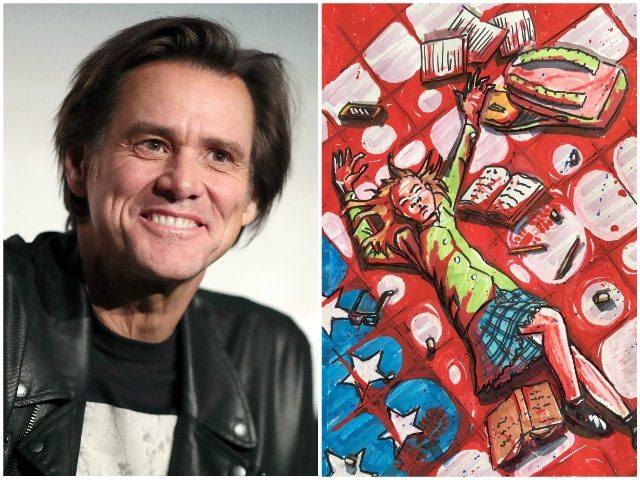 Jim Carrey Shares Painting Of American Flag Soaked In