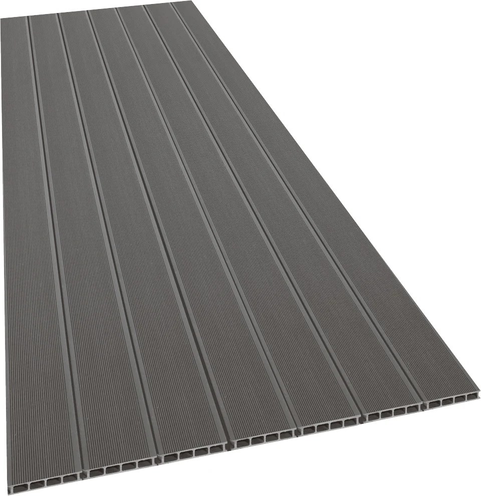 Destockage Lame De Terrasse Composite Pas Cher Lame Terrasse 21x138x2400 Mm Composite Gris
