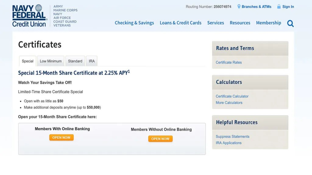 Navy Federal Credit Union\u0027s Amazing CD Deal Bankrate
