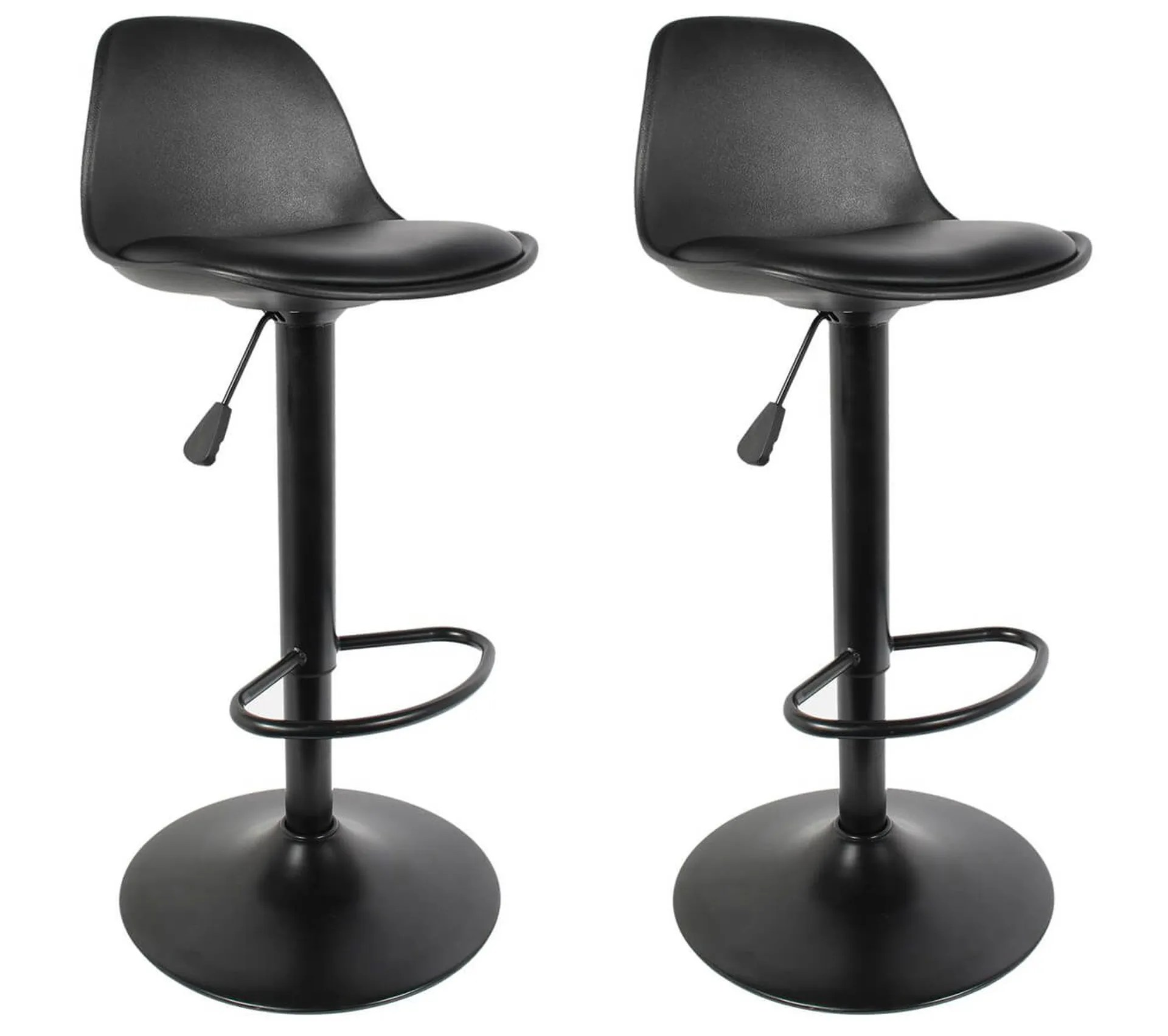 Lot De 2 Tabourets De Bar Coloris Noir Newton Tabouret But