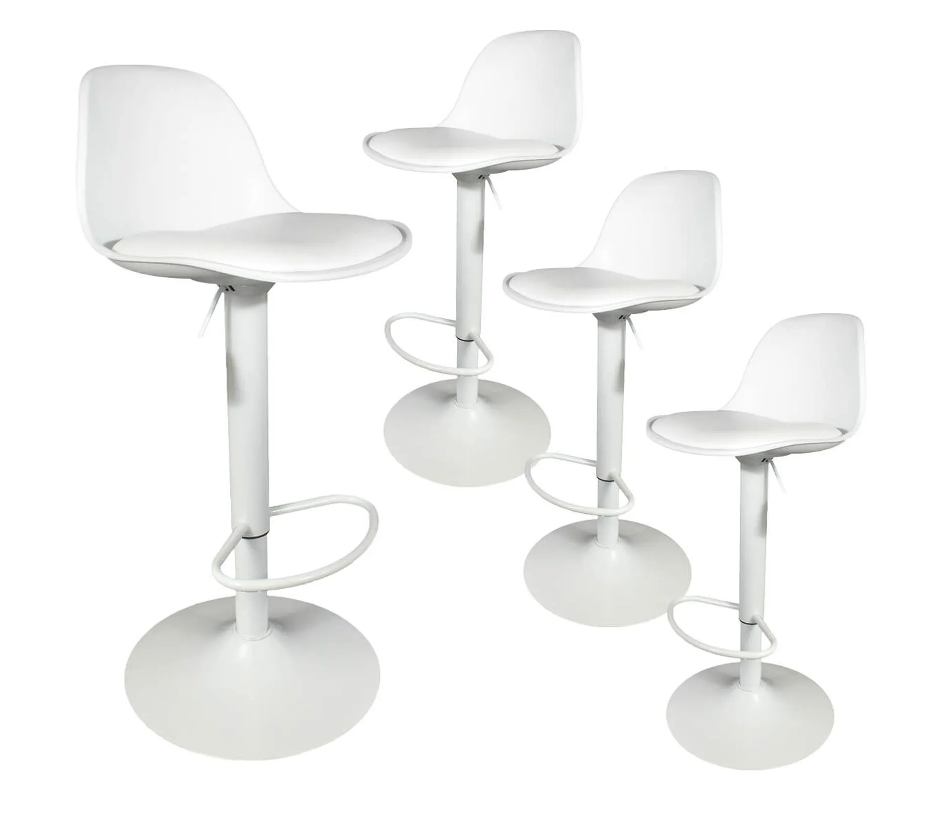 Lot De 4 Tabourets De Bar Coloris Blanc Newton Tabouret But
