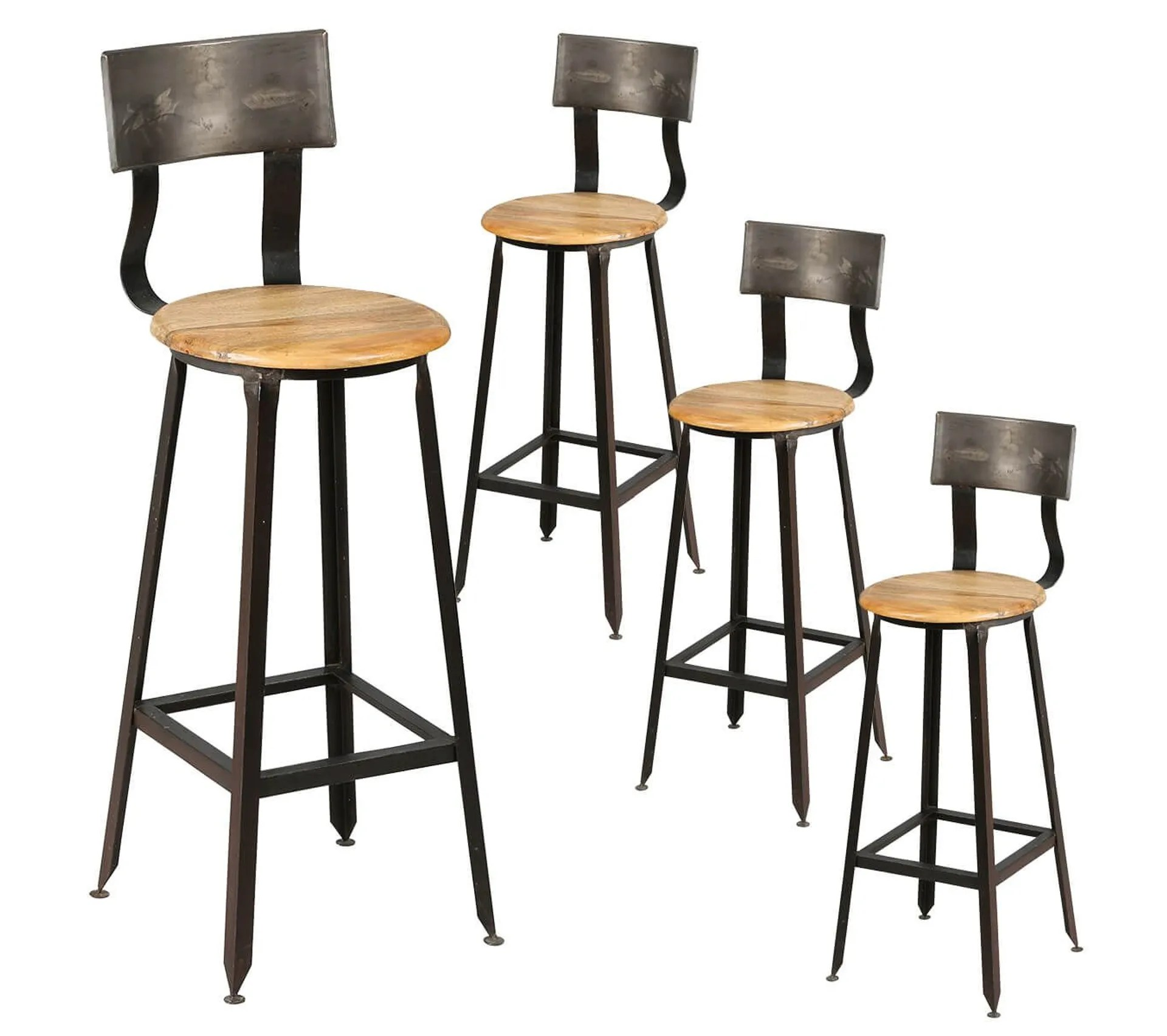 Lot De 4 Tabourets De Bar Industriel Indus Tabouret But