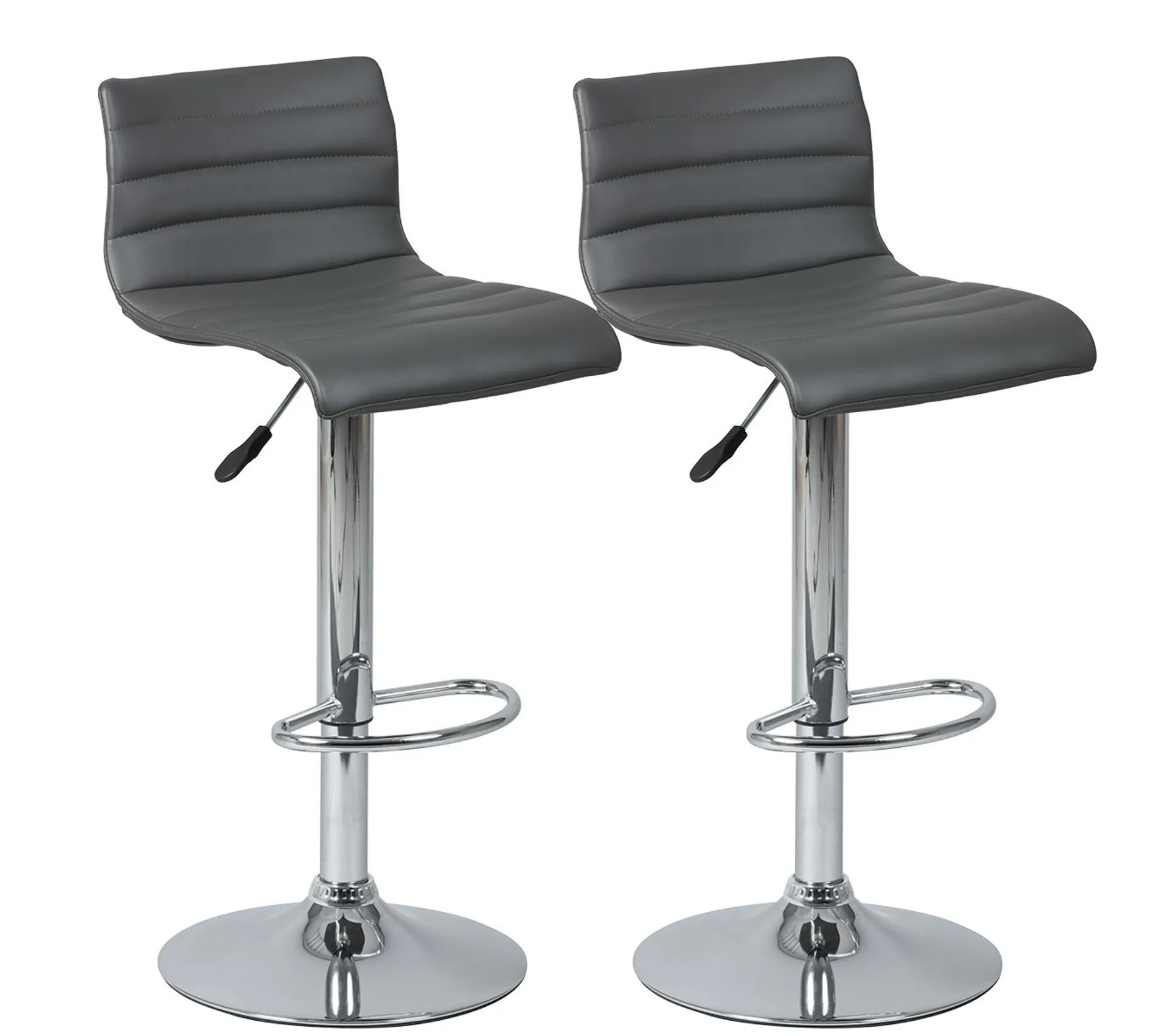 Lot De 2 Tabourets De Bar Gris Davidson Tabouret But