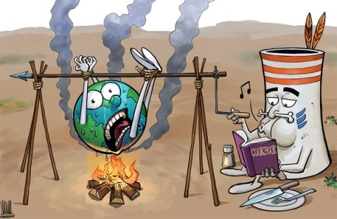 Luojie - China Daily, China - Broiled earth - English - hot,weather,Broiled earth,global warming,emission,cookbook