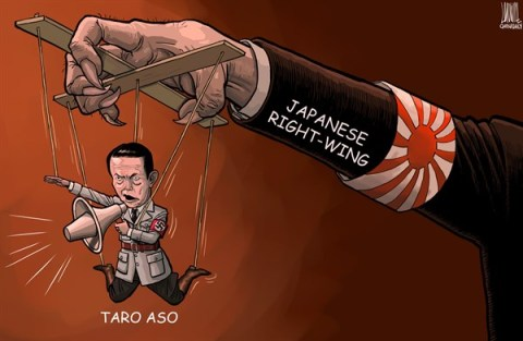 Luojie - China Daily, China - Manipulate - English - Taro Aso, Nazism, rhetoric, manipulate, Japanese right-wing