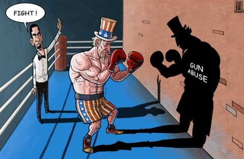 Luojie - China Daily, China - Match impossible - English - boxing,match,impossible,US,gun,abuse,fight,Obama