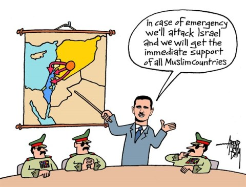 136581 600 Syria and Israel cartoons