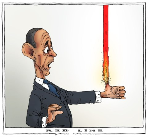 Joep Bertrams - The Netherlands - red line - English - obama, syria, red line, problems, fire