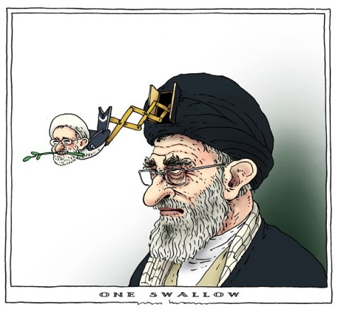 Joep Bertrams - The Netherlands - one swallow - English - iran, khamenei, rouhani, swallow, agreement, peace