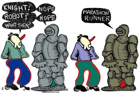 Randall Enos - Cagle Cartoons - Aftermath COLOR - English - Boston marathon,bombing at boston marathon