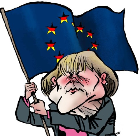 Kap - Spain - Merkel - English - merkel, germany, cdu, elections, europe, european union, eu,