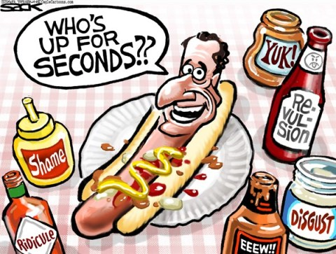Steve Sack - The Minneapolis Star Tribune - Big Weenie COLOR - English - Weiner, sexting, Anthony Weiner, New York, scandal