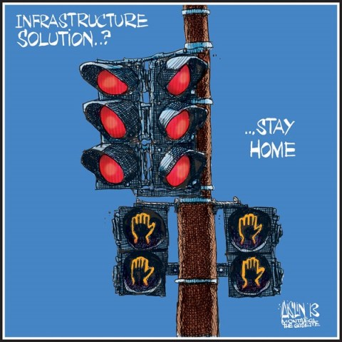 Aislin - The Montreal Gazette - Crumbling infrastructure solution - English - Infrastructure
