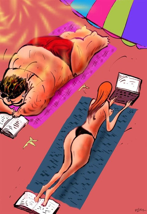 133622 600 Sunbathing cartoons