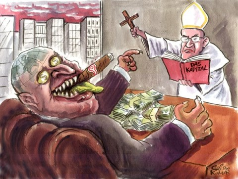 Christo Komarnitski - Bulgaria - The Exorcist - English - 		World,Economy,Pope, Francis,Cartoon,Exorcist,Capitalism