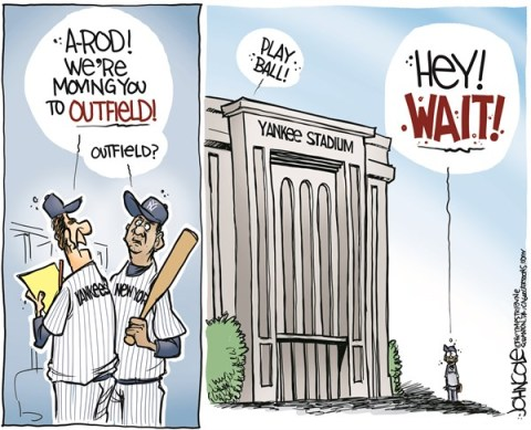 John Cole - The Scranton Times-Tribune - A-Rod and the Yankees COLOR - English - A-Rod, Yankees, baseball, MLB, Steroids, doping