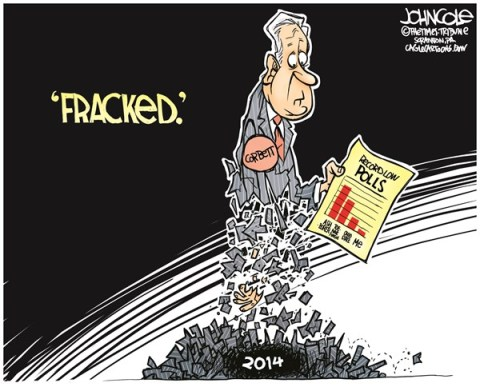 John Cole - The Scranton Times-Tribune - LOCAL PA -- Corbett fracked COLOR - English - Pennsylvania, governor, tom corbett, GOP, polls, approval, 2014 elections