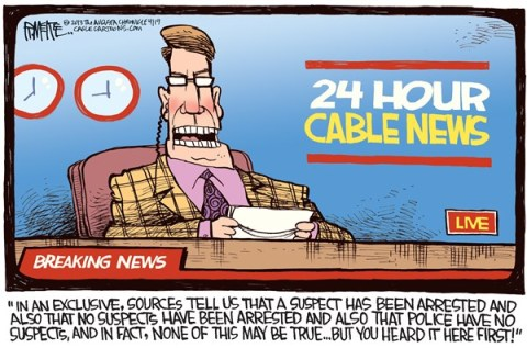 Rick McKee - The Augusta Chronicle - Bad News COLOR - English - cable news, CNN