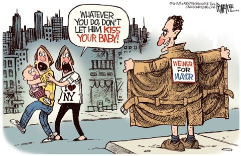 Rick McKee - The Augusta Chronicle - Weiner For Mayor COLOR - English - Weiner, New York, NYC