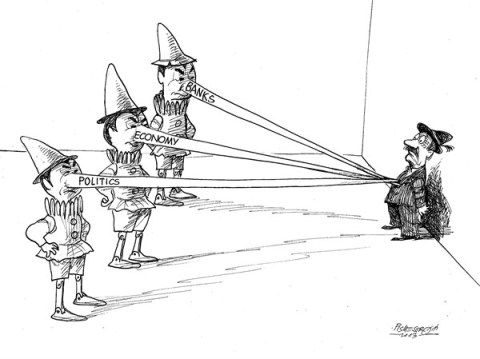 Petar Pismestrovic - Kleine Zeitung, Austria - Three Pinocchios - English - Politics, Economy, Banks, Long nose, Crisis, World, EU, Europe