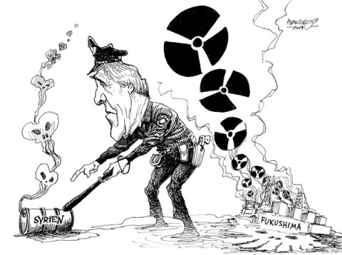 Petar Pismestrovic - Kleine Zeitung, Austria - Kerry in trouble - English - John Kerry, USA, Syria, Obama, Republicans, War, France, Fukushima